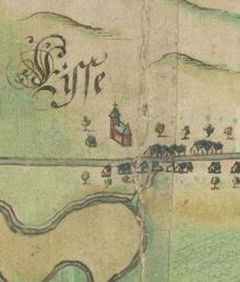 Uitsnede kaart Jan Pietersz Dou 1624