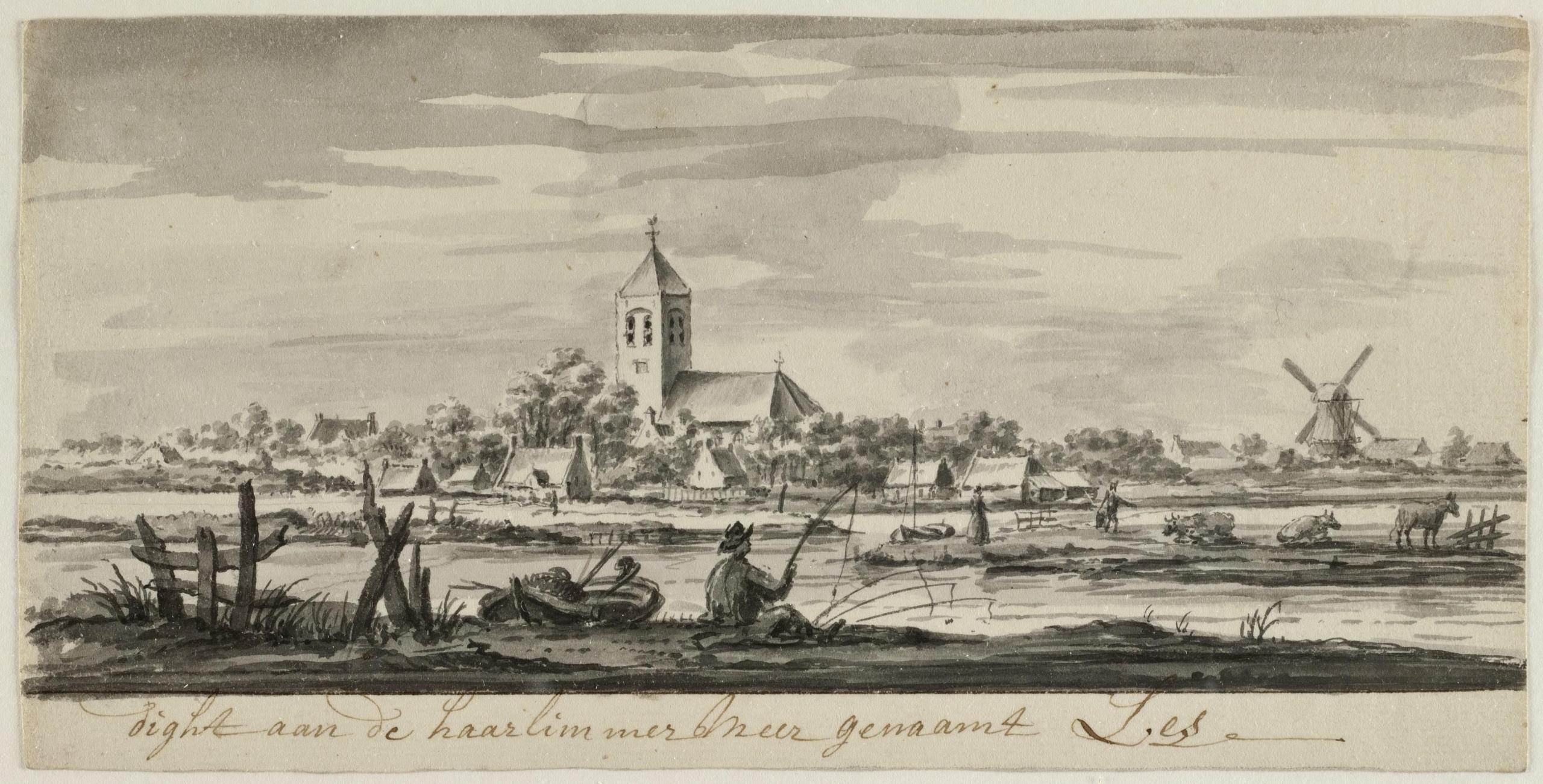 Sight aan de haarlimmer Meer genaamt Lis, Pieter Idserts (1698-1781), Collectie Historisch Archief Haarlemmermeer