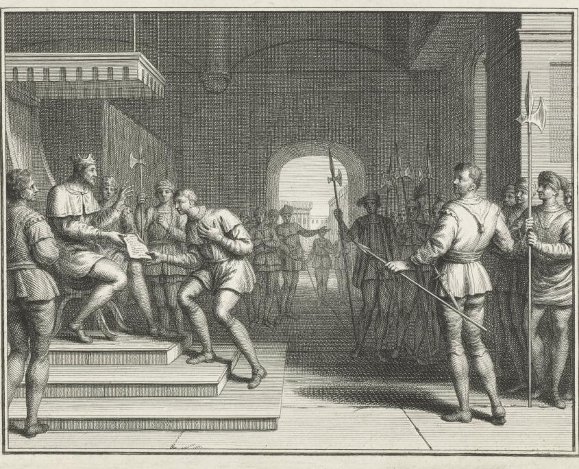 Het jaar 923 - Schenking aan Dirk I